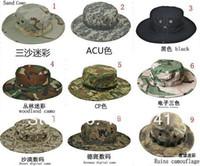 bdu caps - New US Marine Military Army Round Sun Bonnet fishing Hats BDU Combat Boonie Hat Cap Colors