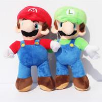 "Unisex 3-4 Years Figures 9"" Super mario Bros Plush toy Mario luigi soft plush stuffed toy doll Free shipping 10pcs"
