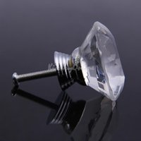 antique glass drawer pulls - 5X mm Diamond Shape Clear Crystal Glass Drawer Cabinet Pull Handle Knob K5BO