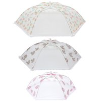 Wholesale 3 Size Mesh Food Cover BBQ Picnic Cooking Tool Folding Umbrella Shaped Protection Covers Tent Anti Fly Mosquito Kitchen Supplies