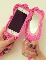 silicone dolls - For Iphone5 Silicon Case Newest Fashion Magic Mirror Soft Silicone Rubber Case Magic Girl D Pink doll Compact Mirrors
