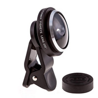 Wholesale Phone lens Universal Degree Super Fish Eye Macro Lens Clip on for Cell Phone Smart Phones Camera Kit