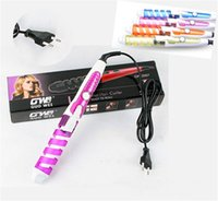 magic roller - 2015 Magic Pro Perfect Curl Electric Ceramic Hair Curler Spiral Hair Rollers Curling Iron Wand Salon Hair Styling Tools Styler