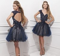 Cheap Backless Homecoming Best navy Blue