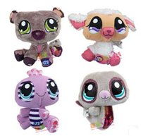 Wholesale 4pcs set Littlest Pet Shop LPS different Action Figure plush toys cm soft toy children toys cute dolls for kids gift