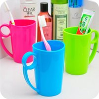 Wholesale Simple candy color wash gargle cup creative travel drinking cup tooth brush cup WC18