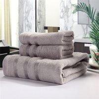 al por mayor bath set-6 Piezas / 3-piezas de fibra de bambú toalla de sistemas pesados de elevado peso Agua absorbente antibacteriana toalla de baño toalla de cara