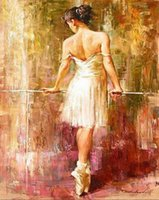ballet coloring - Hand painted DIY Digital Oil Painting Coloring By Numbers Cuadros Wall art Home Decor Pictures Ballet Bancer