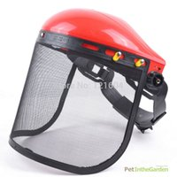 Wholesale Chainsaw Safety Helmet Brushcutter Trimmer Protective Hat w Metal Mesh Visor