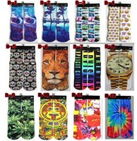 Wholesale DHL free d socks Star Wars kids women men unisex hip hop cotton skateboard stocking printed gun emoji tiger skull D printting socks