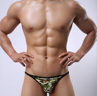 Cheap SHINO camouflage men's fashion underwear low-waist briefs polyester fiber