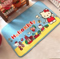 Wholesale Kawaii Cartoon Soft Comfortable Hello Kitty Slip Proof Home Gate Bed Carpet Floor Mat SIze CM Best For Girl