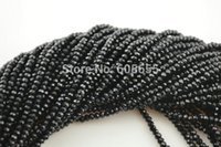 Cheap 2mm Jet Black Color Glass Crystal Rondelle Loose Seed Beads fit Fashion Jewelry making