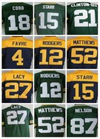 27 - top Quality Green Bay Aaron Rodgers Jersey Authentic Packers Eddie Lacy jersey Football cheap Clay Matthews Jerseys sports