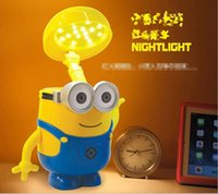 Wholesale Despicable Me children folding Table Lamp USB Charging Studying Desk Lamp saving Cartoon Minions Students Lights Eye protection Lamps LD083