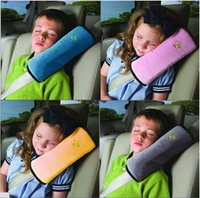 Wholesale 4 color Baby Car Auto Safety Seat Belt Harness Shoulder Pad Cover Children Protection Covers Cushion Support Pillow