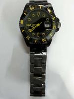 Mens marque de luxe suisse Montres-bracelets noir PVD Acier inoxydable Boucles Vintage Faces date Mode Mans automatiques montres mécaniques pour hommes