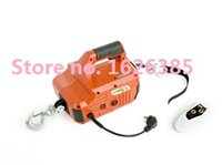 Wholesale Portable Electric Winch wire wireless remote control For Constrution kg Cable meter Electric Winches Hoist