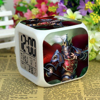animation maker - Factory Qin Shiming animation movie Dragon miles Wattle day high alarm clock colorful color mood LED timepiece month Hot