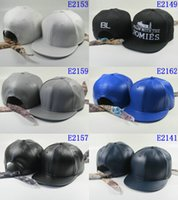 Wholesale High Quality Leather Baseball Caps Mens Snapback Caps Hat Spring Snapbacks Ball Caps Fashion Snapbacks Hat Sports Women Hip Hop Hat