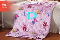 Wholesale 2014 Summer Printed Quilt Air Conditioning Polyester Cotton Thin Style Letter Windmill Home Quilt