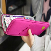 Wholesale Accessories New Travel Wallet Passport Holder Card Pouch Organizer Bag iPhone S Case Purse Unisex Passport Candy Colors Purse bg15
