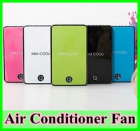 Wholesale 5 color Details about Mini Cooli Portable USB Rechargeable Hand Held Air Conditioner Summer Cooler Fan