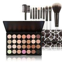 area shadow - New Fashion Colors Eyeshadow Shadow Palette Cosmestic Makeup Kit Set Brush Bag Area K5BO