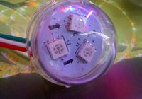 led point - 12V DC mm WS2811 RGB Full Color Round LED Point Control Pixel Modules Light Waterproof IP68