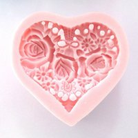 Wholesale DIY Valentine s Day Flowers Shape Silicone Mold Handmade Soap Mold Silicone Chocolate Mold For Cake Decorating Tools FM176