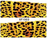 animal print nail - Animal World Leopard Pattern Printed Nails Art Decorations nail tools stickers Party Holiday Decals XF150301