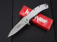 ao knife - Kershaw Zing AO pocket Knife Cr17MOV blade Stainless Steel Bead Blast SS Drop point EDC Pocket knife survival knife knives
