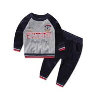 Unisex baby sports apparel - Baby clothes boys winter velour Children s Outfits casual kids suits kidswear sports sets infant apparel embroidery high quality blouse pant