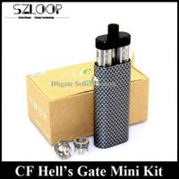 Authentique Yep CF Hell Gate Mini Kit Fibre de carbone Hells Gate Mini + Yep V2 RDA Combo Starter Kit vs Terminator Devils Disciple Kit