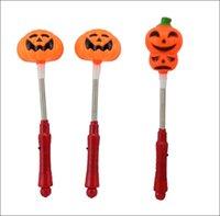 foam pumpkins - 2 style Halloween Lights Led Light Sticks Pumpkins Foam Stick Toy Christmas Gift