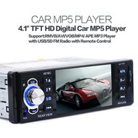 "Cheap 4.1"" TFT HD Digital 4016C Car In-Dash MP5 Players Stereo FM Radios MP3 MP4 Audio Video USB SD CEC_804"
