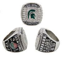 michigan - 2015 Fashion Sport Jewelry Big Ten Michigan State Spartans Football Rose Bowl Championship Ring Custom Championship Ring