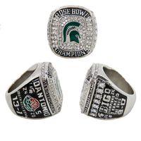 2015 Joyería Deportiva De Moda Deporte Big Ten 2013 Michigan State Spartans Fútbol Rose Bowl Campeonato Ring Ring, Custom <b>Championship Ring</b>