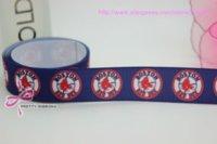 sports ribbon - new hot boston red sox sports printed grosgrain ribbon bow diy party decoration custom mm P390 M67570