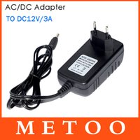 Wholesale 1Pc EU Plug Power Supply Adapter AC V to DC V A For LED Strips Light Converter Adapter Switching Power Supply Charger