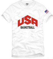 Wholesale USA BASKETBALL tee t shirt kevin durant bryant lebron james tshirt sport short sleeve t shirt camisetas