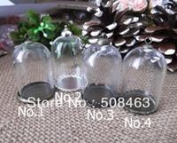 Wholesale Free Ship NEW sets mm glass globe setting base cap finding glass bottle vials jewelry setting