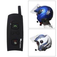bluetooth motorcycle helmet - Hands Free Motorcycle Intercom Interphone Bluetooth BT Headset Speaker Helmet Wireless Ski Helmets M V2 K1374