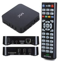 Wholesale MX TV BOX XBMC preinstalled Android TV set top Google Amlogic Cortex A9 Dual core GHz GB GB Player