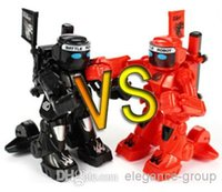 Wholesale fantastic parent child toys mini combat RC robot great fun play with friends family