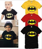 Unisex batman t shirt for girls - high quality Tee summer kids t shirt For cm children batman bat man tee shirt cotton color