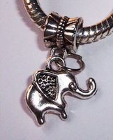 elephant charms - Hot Tibetan Silver Elephant Charms Pendants mm x14mm p01