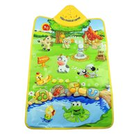 animal sounds samples - Hot Salw Best seller Baby Music Playing pad Sound Farm Animal Kids Playing Mat Carpet Playmat Gym Toy gift for your Children jul