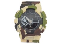 Sport Unisex Multiple Time Zone CAMO G watch dual display relogio men's sports watches, LED chronograph wristwatch, military watch, digital watch, good gift for men & boy