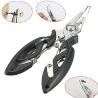 Wholesale New Arrivals Fishing Pliers Scissors Line Cutter Remove Hook Tackle Tool Outdoor Gear Stainless Steel LF7